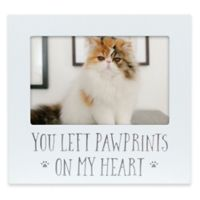 Pearhead® Pet Sentiment 4-Inch x 6-Inch Pawprint Heart Frame in White/Grey