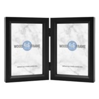 Gallery 2 Photo 4 Inch X 6 Hinged Wood Frame In Black