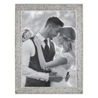 Siena™ Enameled Glitter Wedding 5-Inch x 7-Inch Picture Frame in Silver