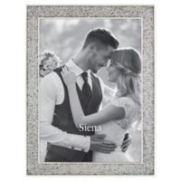 Siena™ Enameled Glitter Wedding 8-Inch x 10-Inch Picture Frame in Silver