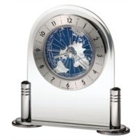 Howard Miller® Discover Tabletop Clock in Silver