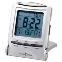 Howard Miller® Distant Time Tabletop Clock in Silver