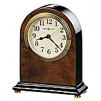 Howard Miller® Bedford Tabletop Clock in Walnut/Black