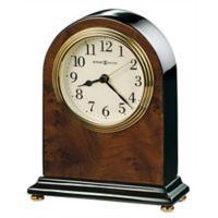 Howard Miller® Bedford Tabletop Clock in Walnut/Black