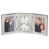 Howard Miller® Trio Tabletop Clock in Silver