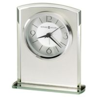 Howard Miller® Glamour Tabletop Clock in Silver