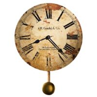Howard Miller® Moment in Time JH Gould & Co. Pendulum Wall Clock in Distressed Tan