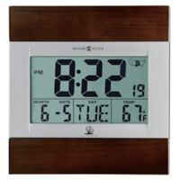Howard Miller® Techtime III Wall Clock in Silver/Cherry Wood
