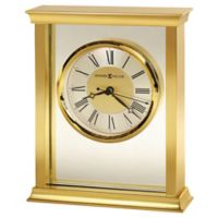 Howard Miller® Monticello Tabletop Clock in Polished Brass