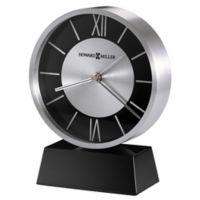 Howard Miller® Davis Tabletop Alarm Clock in Silver/Black