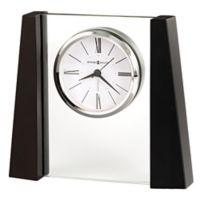 Howard Miller® Dixon Tabletop Alarm Clock in Black Satin