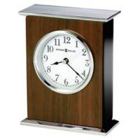 Howard Miller® Verona Tabletop Clock in Walnut/Chrome
