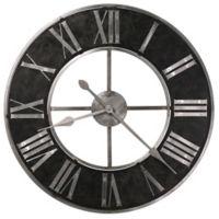 Howard Miller® Dearborn Wall Clock in Black/Silver