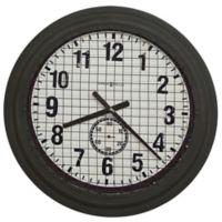 Howard Miller® Grid Iron Works Wall Clock in Rusty Brown