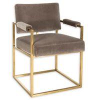 Safavieh Velvet Upholstered Chair in Mouse