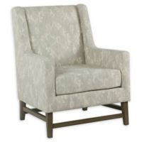 Homepop Fabric Upholstered Accent Chair in Grey