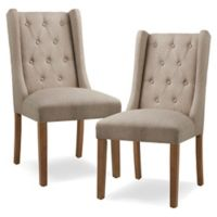 Madison Park™ Cleo Upholstered Dining Chairs in Taupe (Set of 2)