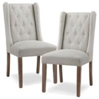 Madison Park™ Cleo Upholstered Dining Chairs in Cream/Grey (Set of 2)