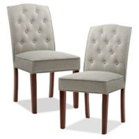Madison Park™ Marian Upholstered Dining Chairs in Cream/Grey (Set of 2)