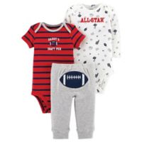 carter's® Preemie 3-Piece Football Bodysuit and Pant Set