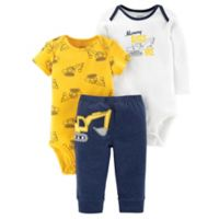 carter's® Preemie 3-Piece Construction Bodysuit and Pant Set