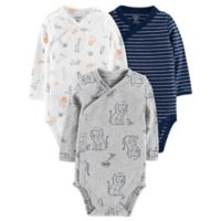 carter's® Preemie 3-Pack Lion Side Snap Bodysuits