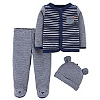 carter's® Preemie 3-Piece Bear Footie Set in Navy
