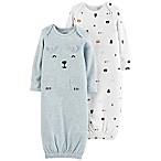 carter's® Preemie 2-Pack Bear Gowns