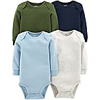 carter's® Size 3M 4-Pack Long-Sleeve Bodysuits