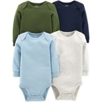 carter's® Newborn 4-Pack Long-Sleeve Bodysuits