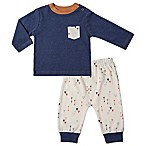 asher and olivia® Size 6-9M 2-Piece Arrow Shirt and Pant Set in Blue