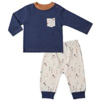asher and olivia® Size 3-6M 2-Piece Arrow Shirt and Pant Set in Blue