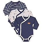 asher and olivia® Size 3-6M 3-Pack Kimono Bodysuits in Blue