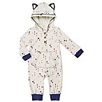 asher and olivia® Size 3-6M Woodland Fox Hooded Romper in Blue