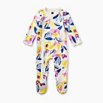 Tea Collection Floral Size 6-9M Footed Coverall