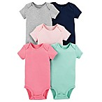 carter's® Size 3M 5-Pack Short Sleeve Bodysuits