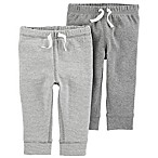carter's® Size 3M 2-Pack Pull-On Pant in Grey