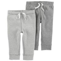 carter's® Size 9M 2-Pack Pull-On Pant in Grey
