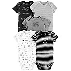 carter's® Newborn 5-Pack Digger Bodysuits in Black