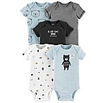 carter's® Size 3M 5-Pack Bears Short Sleeve Bodysuits