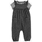 carter's® Size 6M 2-Piece Flutter Sleeve Overall and T-Shirt Set in Black