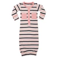 L'ovedbaby® Size 0-3M Striped Organic Cotton Gown in Coral