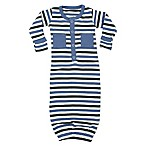 L'ovedbaby® Preemie Striped Organic Cotton Gown in Slate
