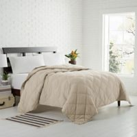 Garment Washed Down Alternative Quilted Twin Blanket in Dune