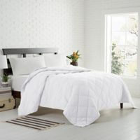 Garment Washed Down Alternative Quilted King Blanket in White
