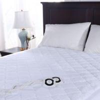 Berkshire Blanket® Intellisense Luxury Heat Queen Mattress Pad in White