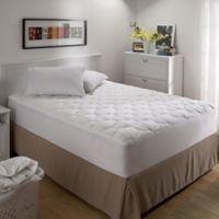Bedding Essentials™ Microfiber California King Mattress Pad in White