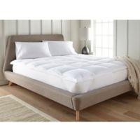 Home Luxury Plush Full Mattress Pad in White