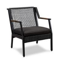 Real Flame® Calvin Outdoor Arm Chairs in Black (Set of 2)