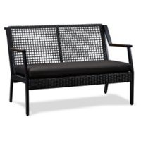 Real Flame® Calvin Outdoor Loveseat in Black